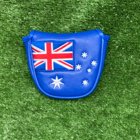 "Australian Flag ""Traditional"" Mallet Putter Cover The Back Nine Online - Custom HeadCovers & Custom Golf Bags"