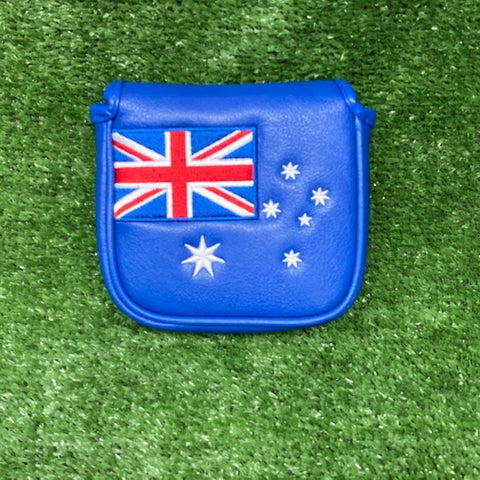 "Australian Flag ""Square"" Mallet Putter Cover The Back Nine Online - Custom HeadCovers & Custom Golf Bags"
