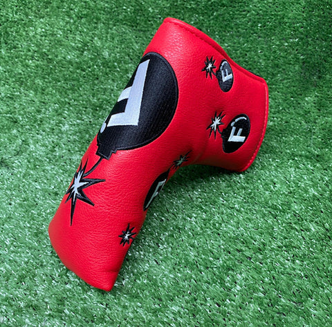 """F-Bomb"" Blade Putter Cover The Back Nine Online - Custom HeadCovers & Custom Golf Bags"