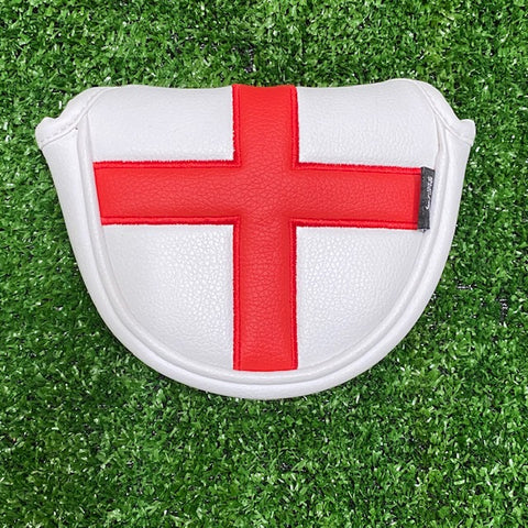 English Flag Mallet Putter Cover The Back Nine Online - Custom HeadCovers & Custom Golf Bags