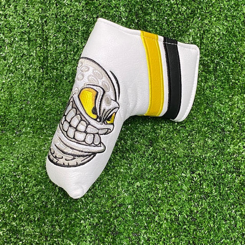 """Angry Ball"" Custom Blade Putter Cover The Back Nine Online - Custom HeadCovers & Custom Golf Bags"