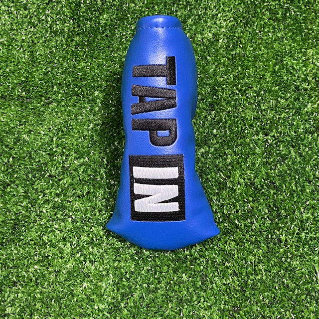 """TAP IN"" Blade Putter Cover The Back Nine Online - Custom HeadCovers & Custom Golf Bags"