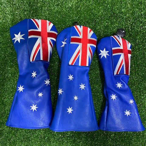 Australian Flag - Custom 3 Piece HeadCover Set The Back Nine Online - Custom HeadCovers & Custom Golf Bags