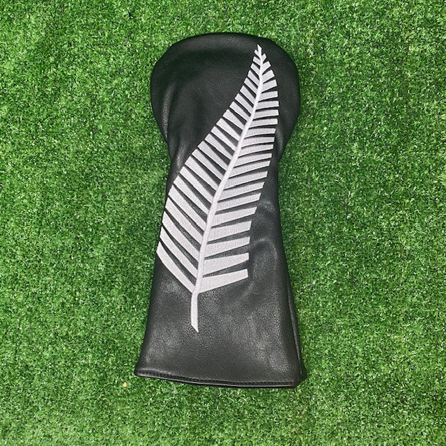 """ Kiwi Black"" Driver Cover The Back Nine Online - Custom HeadCovers & Custom Golf Bags"
