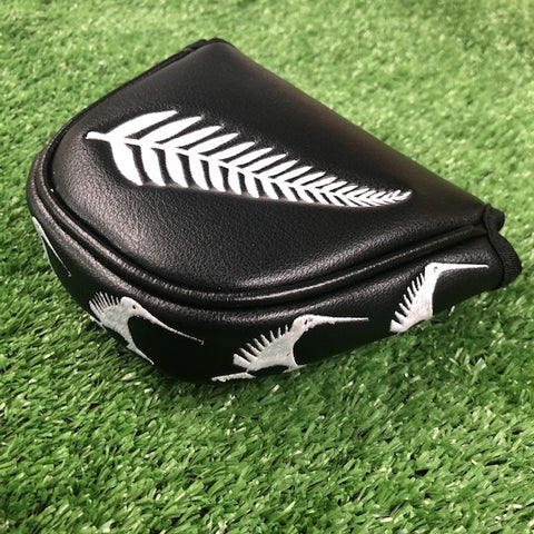 """Kiwi Black"" Custom Putter Cover - Mallet - The Back Nine Online"