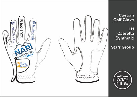Custom Cabretta Golf Glove - The Starr Group