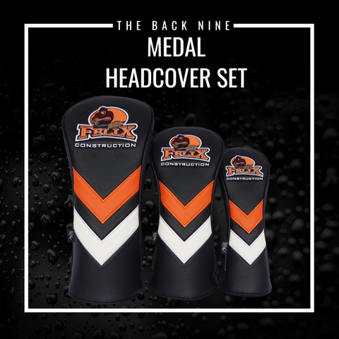Custom Head Cover Set - Medal The Back Nine Online - Custom HeadCovers & Custom Golf Bags