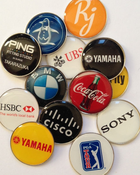 Custom Epoxy Dome Ball Marker The Back Nine Online - Custom HeadCovers & Custom Golf Bags