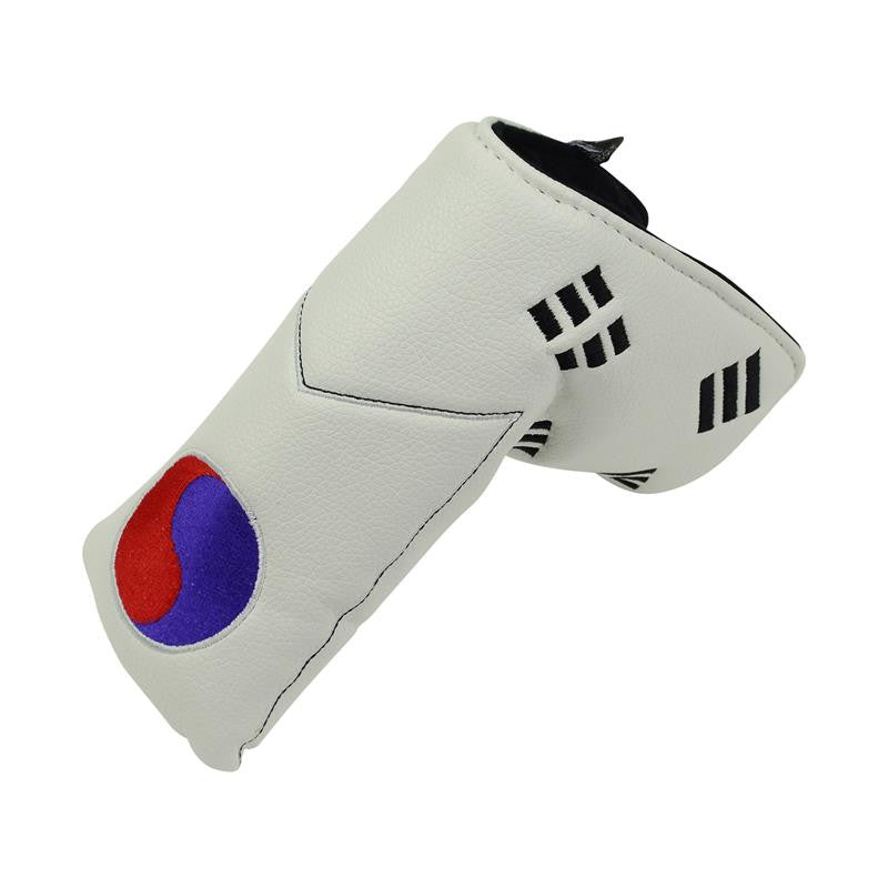 """Sth Korean Flag"" Premium Blade Putter Cover The Back Nine Online - Custom HeadCovers & Custom Golf Bags"