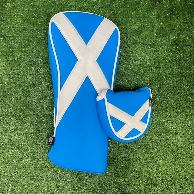 Scottish Flag Headcover Twin Packs The Back Nine Online - Custom HeadCovers & Custom Golf Bags