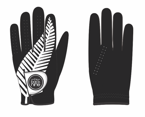 """Kiwi Black"" Premium AA Cabretta Leather Golf Glove - Kiwi - The Back Nine Online"
