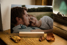 wooden block to display precious photos