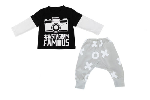 baby camera instagram t shirt set