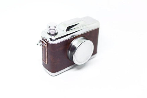 Stainless Steel Camera Hip Flask