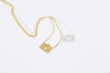 gold and silver plated camera charm necklace
