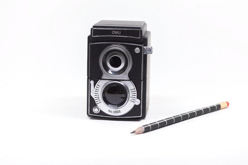 camera shaped pencil sharpener