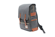 Canvas Backpack Camera  Bag Grey