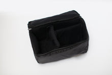 black camera bag insert