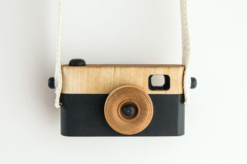 Dark Blue Wooden Camera Toy