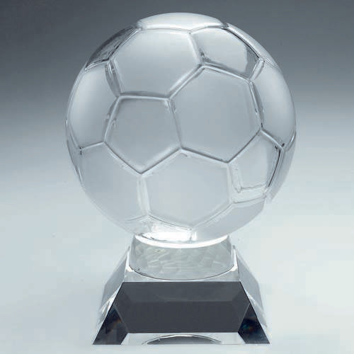 Clear & frosted glass football