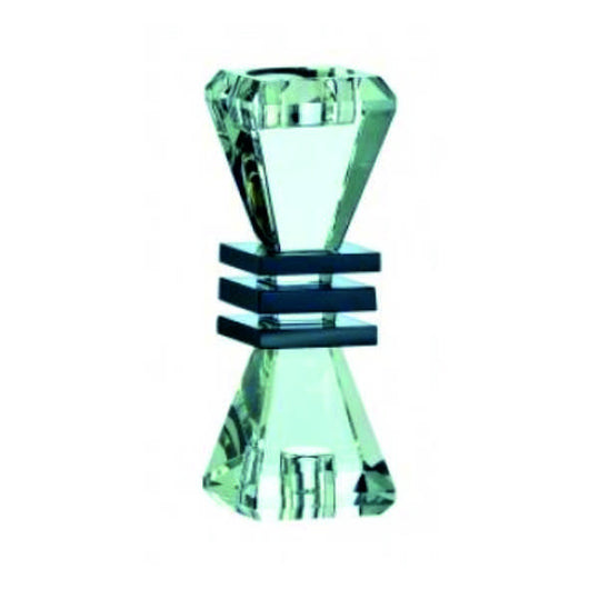 Galway Crystal Deco candlestick