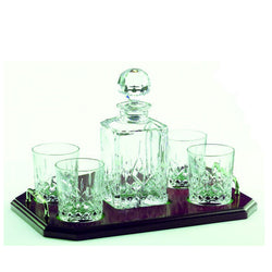 Galway Crystal Longford decanter set