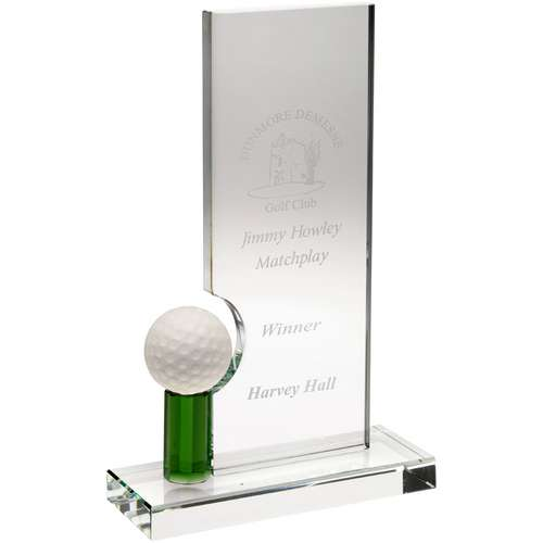 Green tee plaque golf award