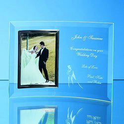Curved photo frame portrait