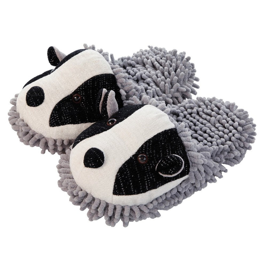 Aroma Home Fuzzy Friends Slippers - Badger