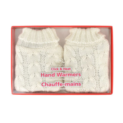 Aroma Home Click & Heat Knitted Hand Warmers - Cream Cable