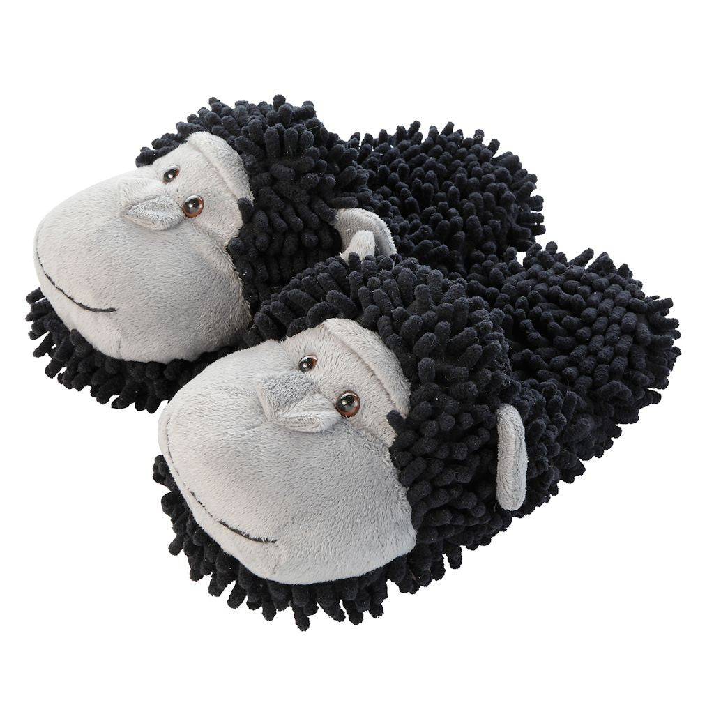 Aroma Home Fuzzy Friends Slippers - Chimpanzee