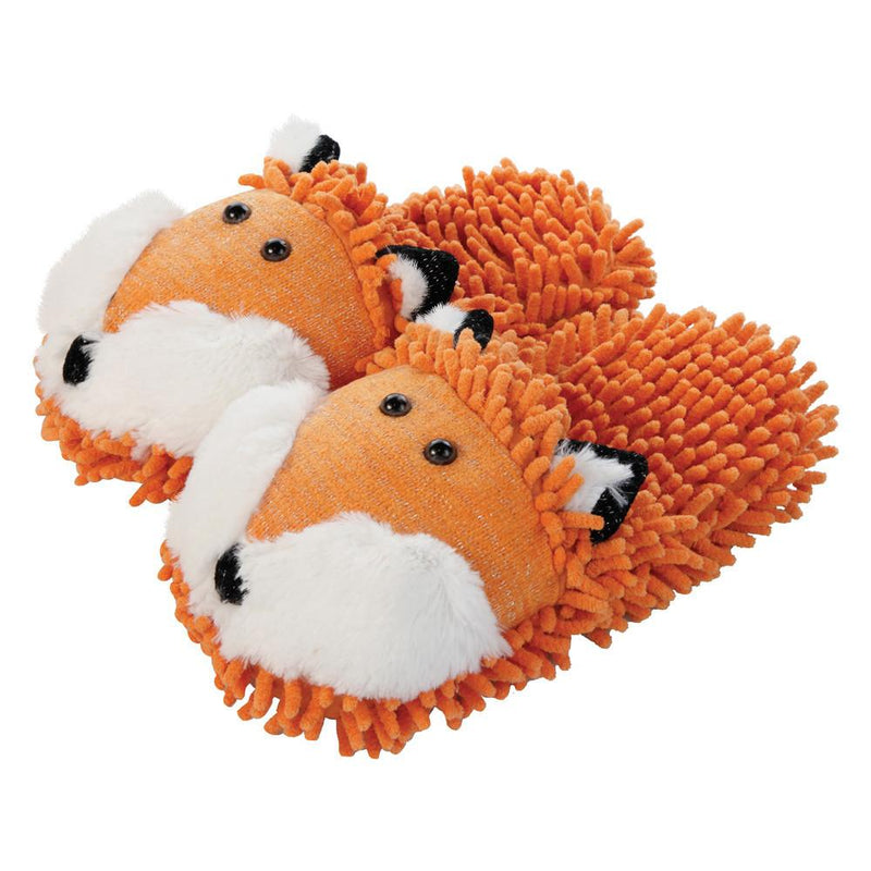 Aroma Home Fuzzy Friends Slippers - Fox