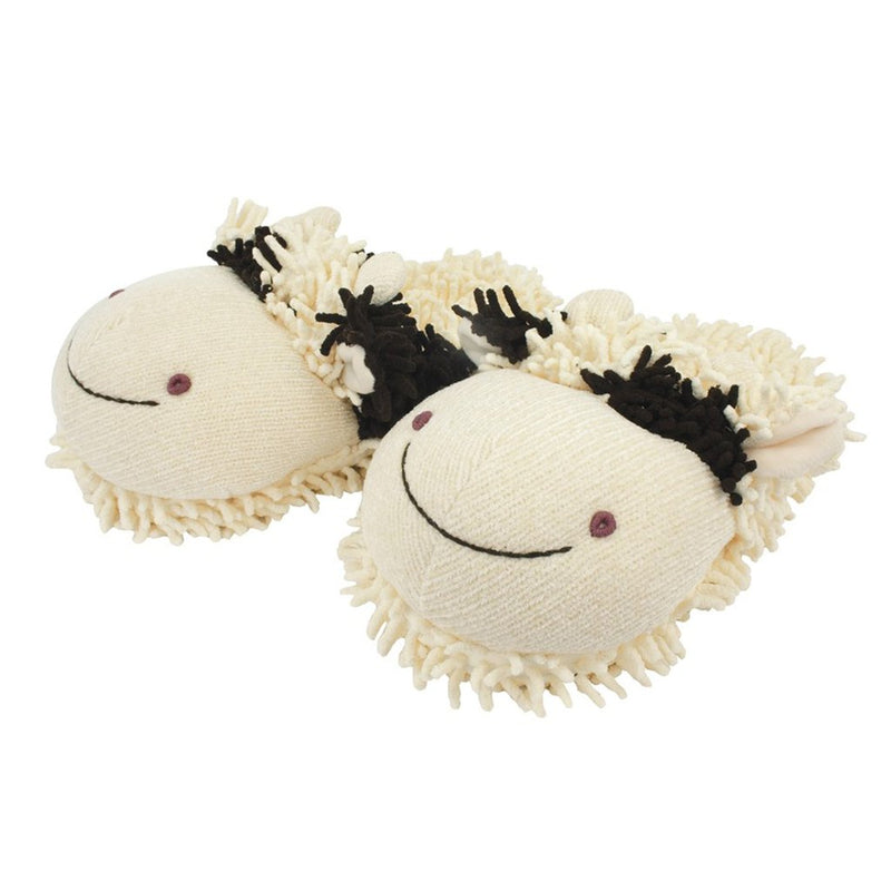 Aroma Home Fuzzy Friends Slippers - Cow