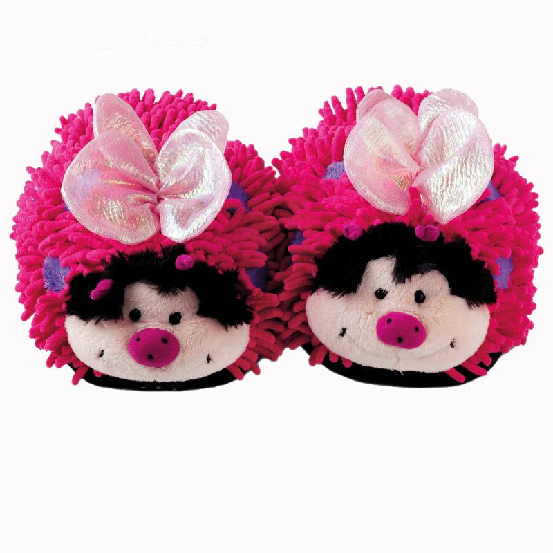 Aroma Home Fuzzy Friends Slippers - Pink Butterfly (Adult)