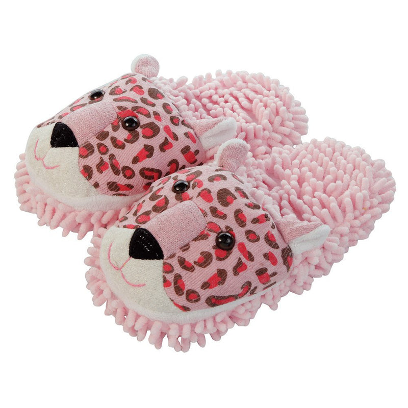 Aroma Home Fuzzy Friends Slippers - Leopard