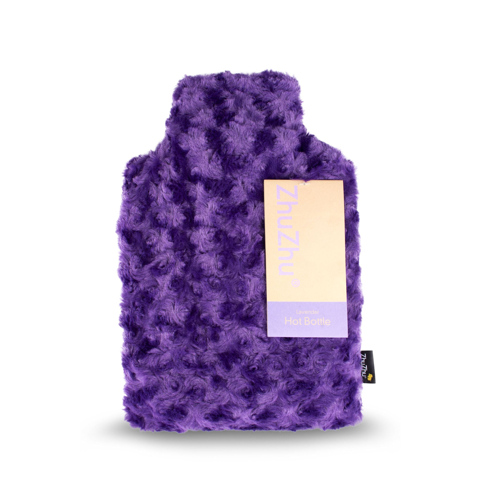 Zhu Zhu Purple Swirl Plush Hot Bottle Body Warmer - Microwavable Lavender Wheat Bag
