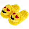 Aroma Home Fuzzy Friends Slippers - Love Hearts Emoji