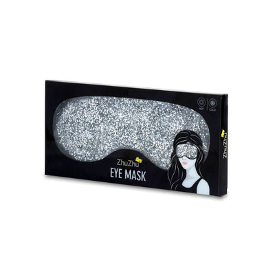 Zhu-Zhu Glitter Gel Hot & Cold Eye Mask - Silver