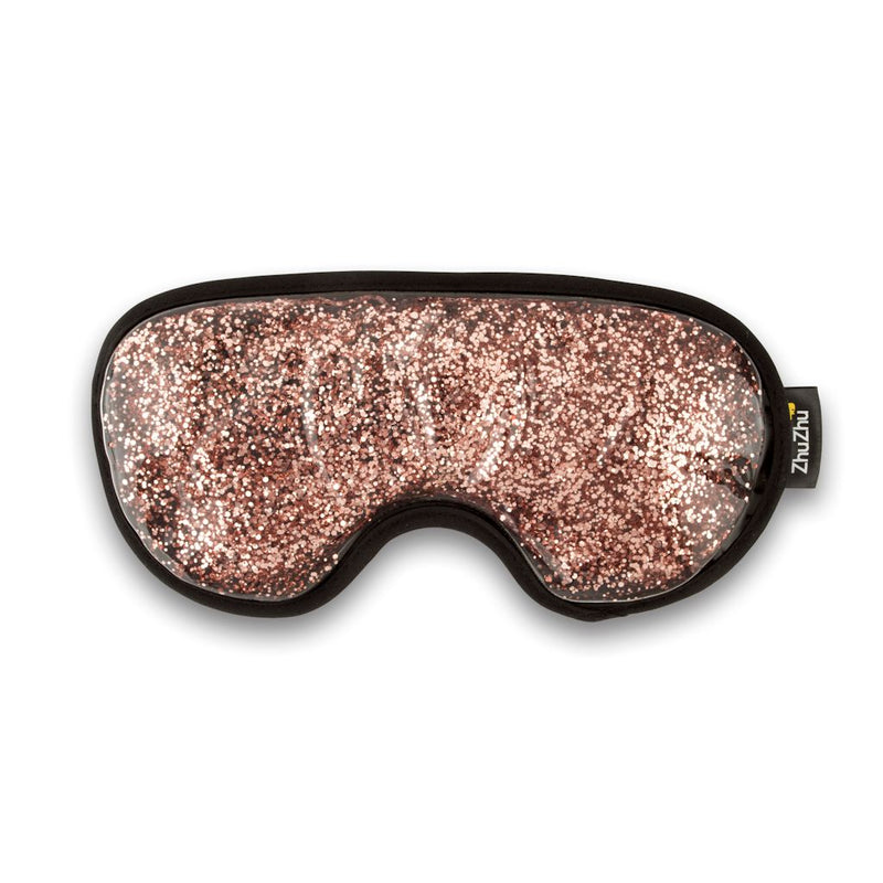 Zhu-Zhu Glitter Gel Hot & Cold Eye Mask - Rose Gold
