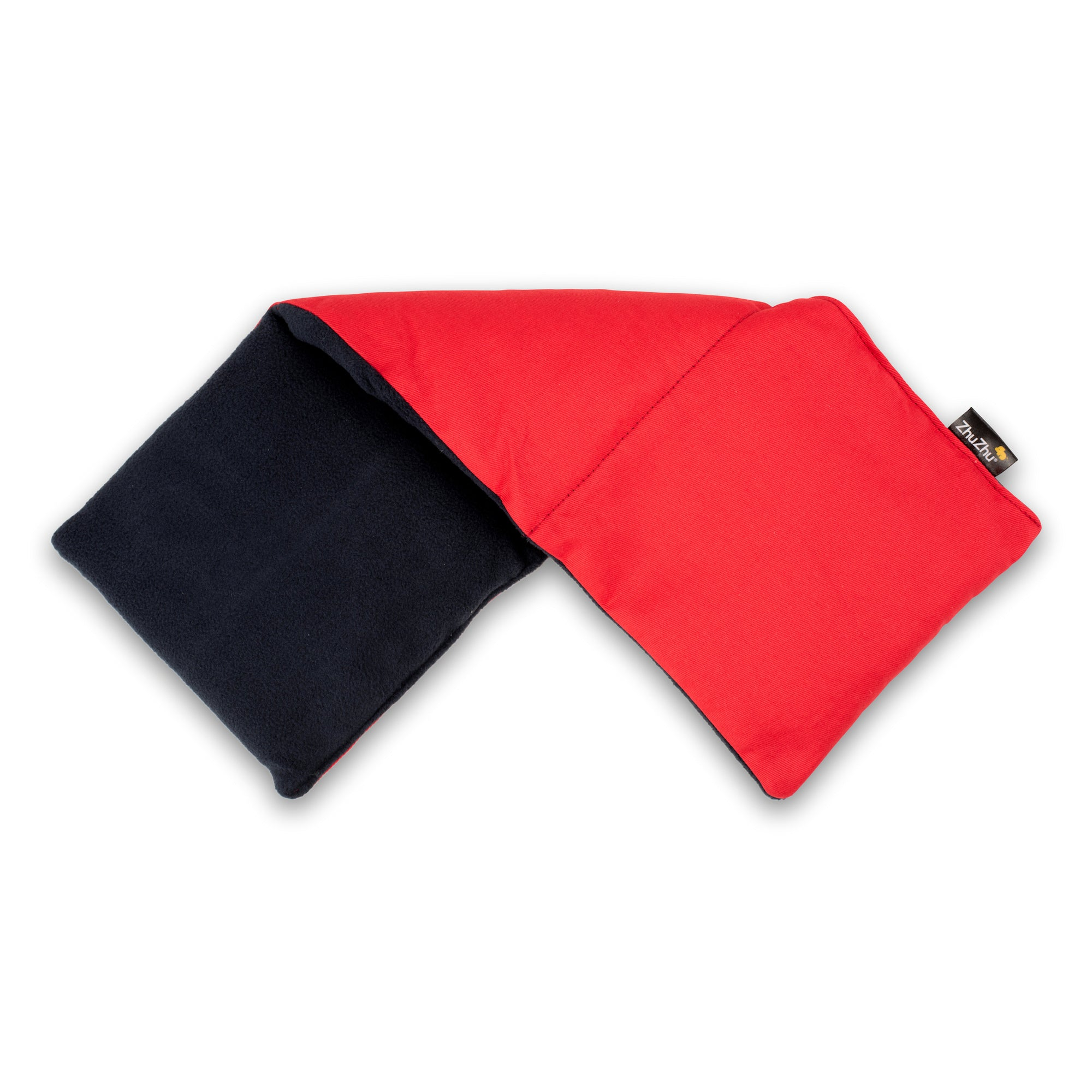 Zhu-Zhu Soothing Heat Pack - Navy Fleece & Red Twill Unscented Microwave Wheat Bag