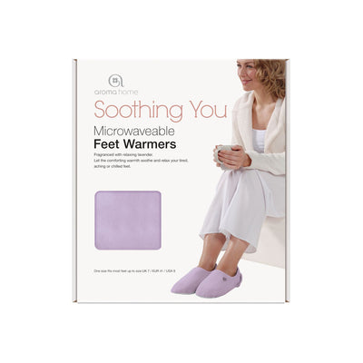 Aroma Home Soothing You Microwavable Feet Warmers - Blue