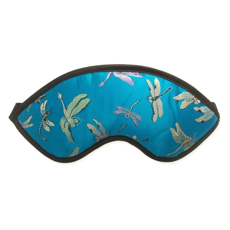 Kimono Kollection Dragon Fly Silk Eye Mask - Blue