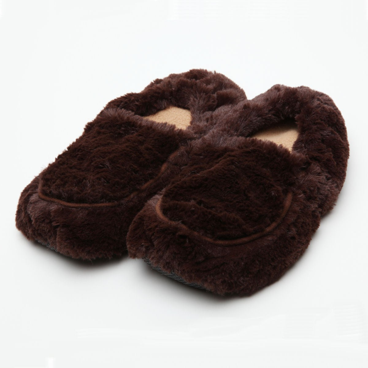 Intelex Furry Warmers Microwavable Slippers - Brown