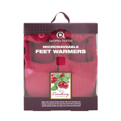 Aroma Home Microwavable Feet Warmers Cranberry Burgundy