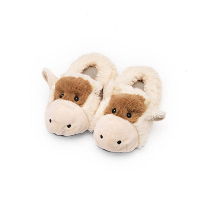 Intelex Cozy Heads Heatable Slippers - Kids - Cow