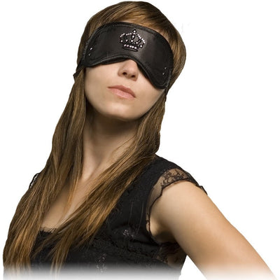 Daydream Sleep Mask - Swarovski Crystals Crown - Black