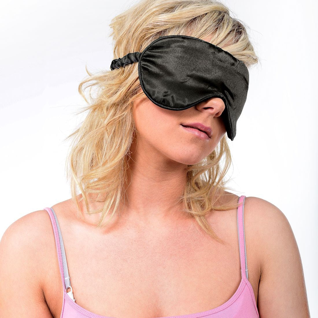 Zhu-Zhu Silk Lavender Eye Mask - Black