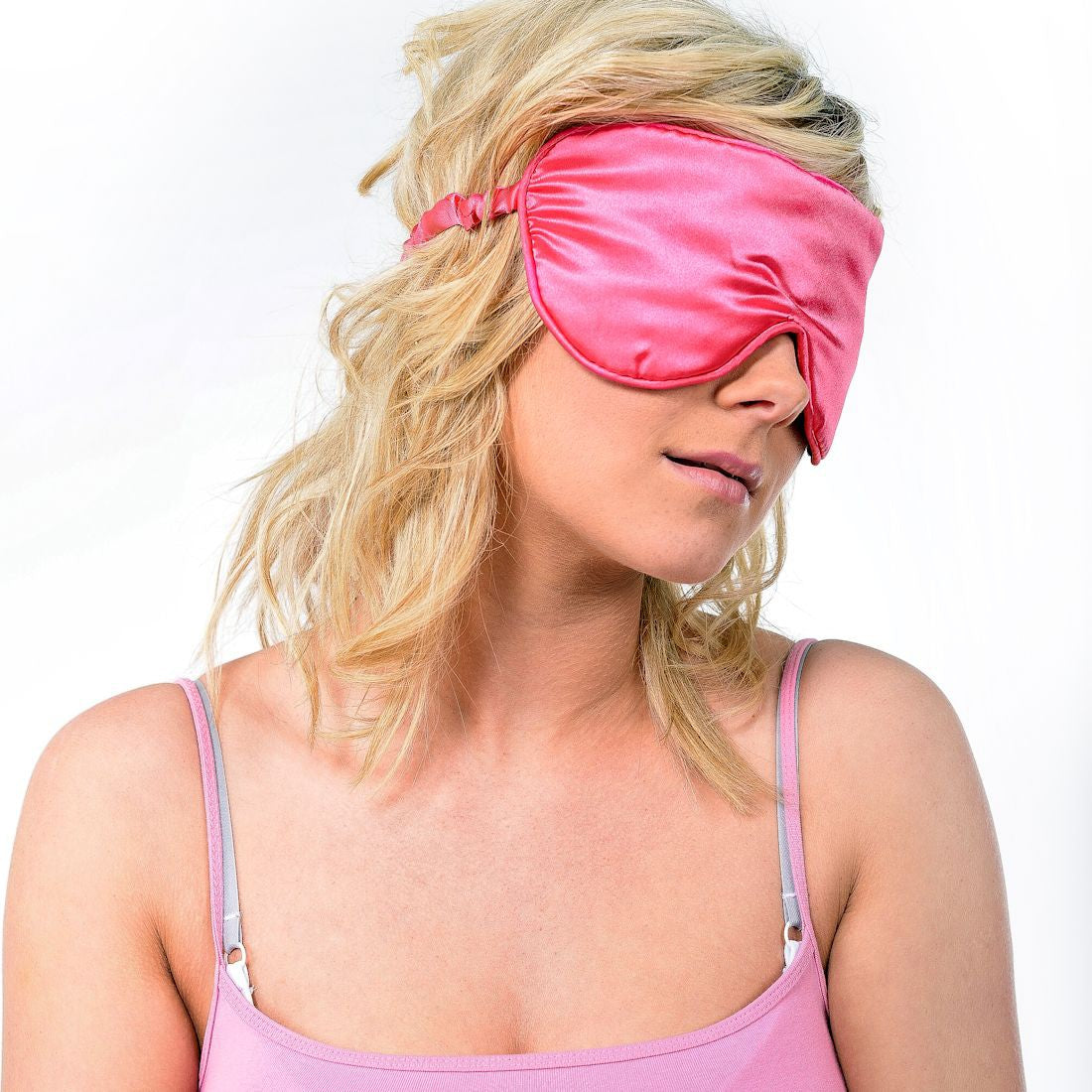 Zhu-Zhu Silk Lavender Eye Mask - Pink