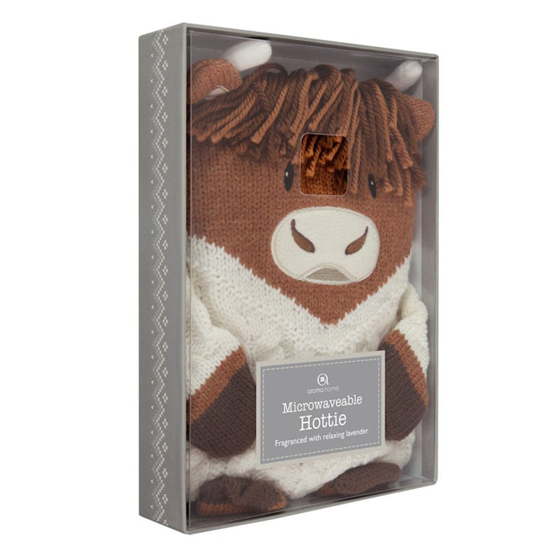 Aroma Home Knitted Microwave Hottie - Highland Cow