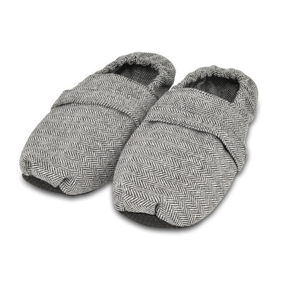 Zhu-Zhu Microwavable Slippers Herringbone Unscented Feet Warmers